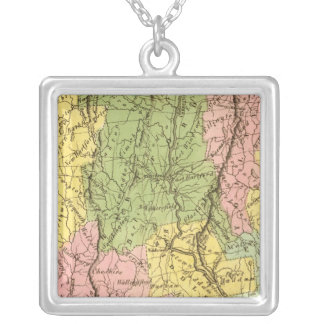 Connecticut US Silver Plated Necklace