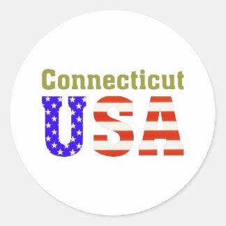 Connecticut USA! Round Sticker