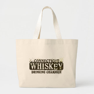 Connecticut Whiskey Drinking Champion Canvas Bags
