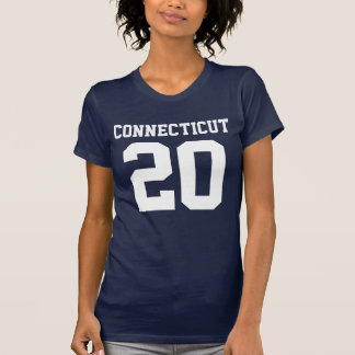 Connecticut With Number (Customizable Number) T-Shirt
