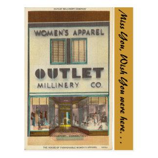 Connecticut, Women's Apparel Outlet, Bridgeport Post Cards