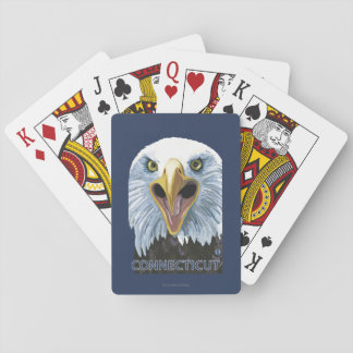 ConnecticutEagle Up Close Playing Cards