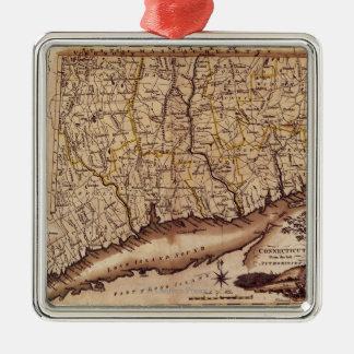ConnecticutPanoramic MapConnecticut 2 Christmas Ornament