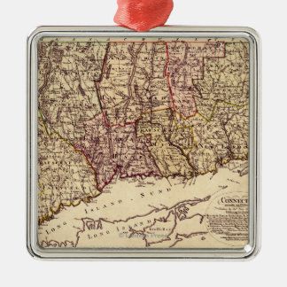 ConnecticutPanoramic MapConnecticut Christmas Ornament