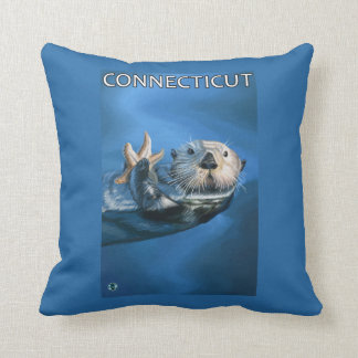 ConnecticutSea Otter Scene Cushion