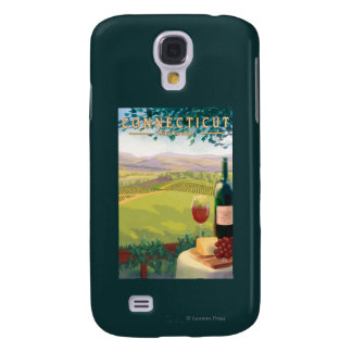 ConnecticutWine Country Scene Galaxy S4 Case