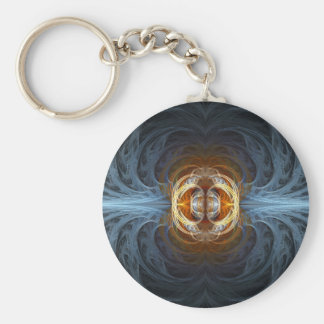 Connection Fractal Abstract Art Key Chains