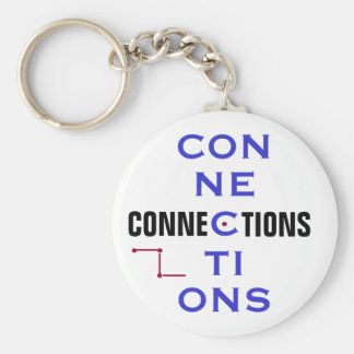 Connections Basic Round Button Key Ring