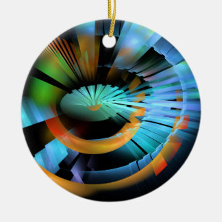 CONNECTIVE-GADGETRY-Poster-Available Round Ceramic Decoration