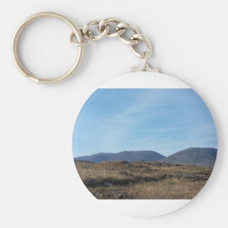 Connemara Mountains Basic Round Button Key Ring