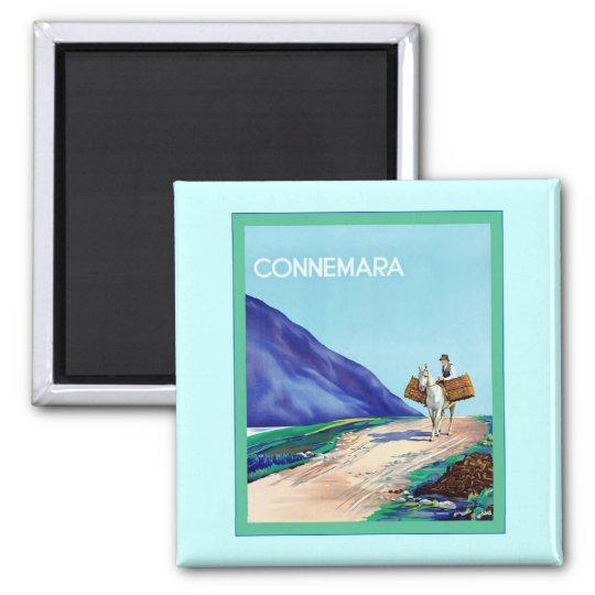 Connemara ~ Vintage Irish Travel Square Magnet