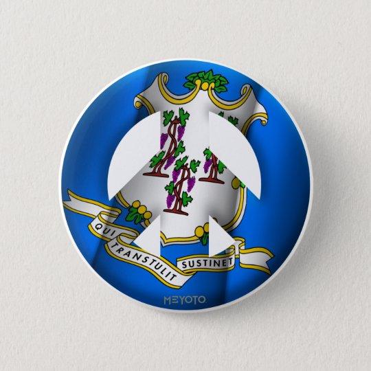Conneticut 6 Cm Round Badge