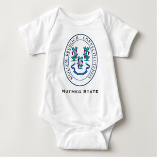 Conneticut State Seal and Motto Baby Bodysuit