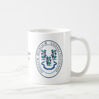 Conneticut State Seal and Motto Coffee Mug