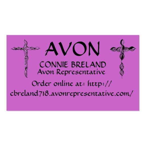 CONNIE BRELAND YOUR AVON REP BUSINESS CARD TEMPLATE