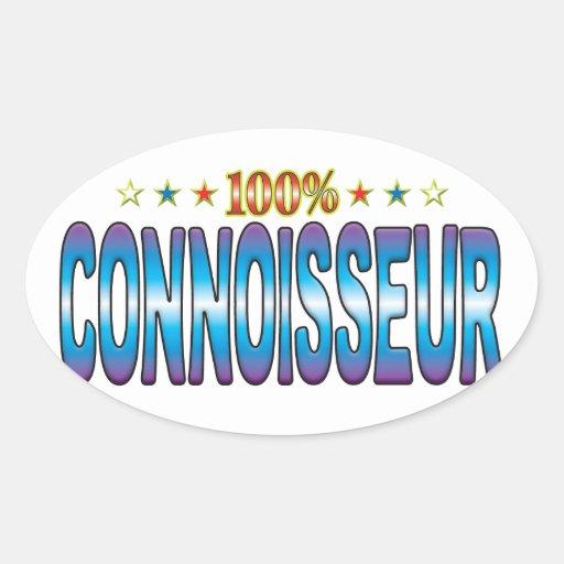 Connoisseur Star Tag v2 Oval Sticker