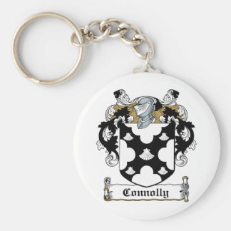 Connolly Family Crest Basic Round Button Key Ring