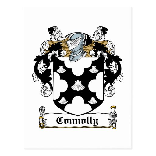 Connolly Family Crest Postcard