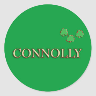 Connolly Family Classic Round Sticker