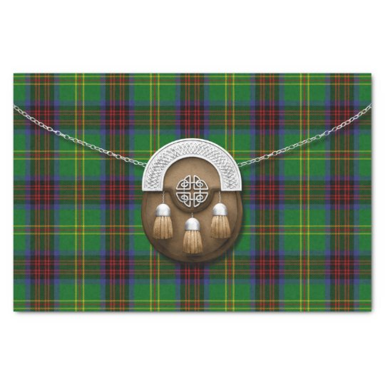 Connolly Hunting Tartan And Sporran Tissue Paper