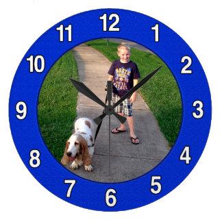Connor Blue Clock