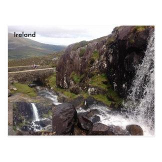 Connor Pass Waterfall, Dingle, Co. Kerry, Ireland. Postcard