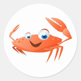 Connor The Crab Classic Round Sticker