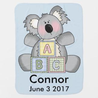 Connor's Personalized Koala Baby Blanket