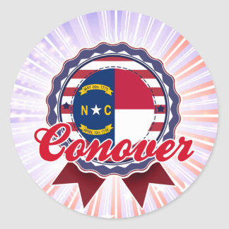 Conover, NC Round Sticker