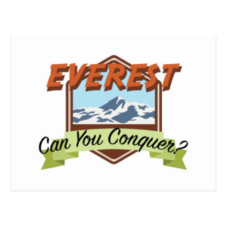 Conquer Everest Postcard