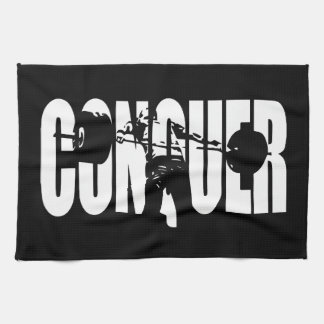 CONQUER - Olympic Weightlifting - Gym Motivational Hand Towel
