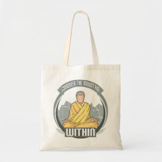 Conquer the Mountain Within Budget Tote Bag