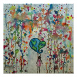 Conquering Chaos Love Abstract Poster