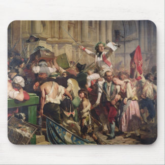 Conquerors of  Bastille before the Hotel de Mouse Pad
