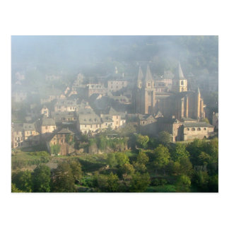 Conques, France postcard