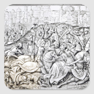 Conquest of Jerusalem by Charlemagne Square Sticker