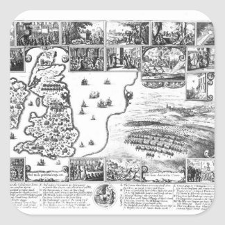 Conquests of Gustavus II Adolphus Square Sticker