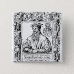 Conrad Gesner 15 Cm Square Badge