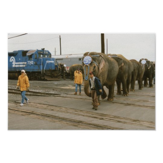 Conrail Elephants on The March Poster