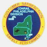 Conrail Philadelphia Division Round Sticker