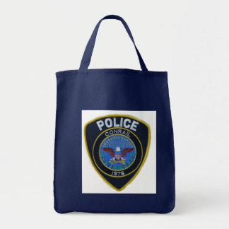Conrail Railroad Police Patch Grocery Tote Bag