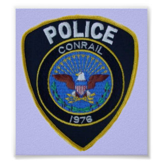 Conrail Railroad Police Patch Poster