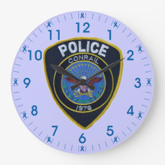 Conrail Railroad Police Patch Wall Clock
