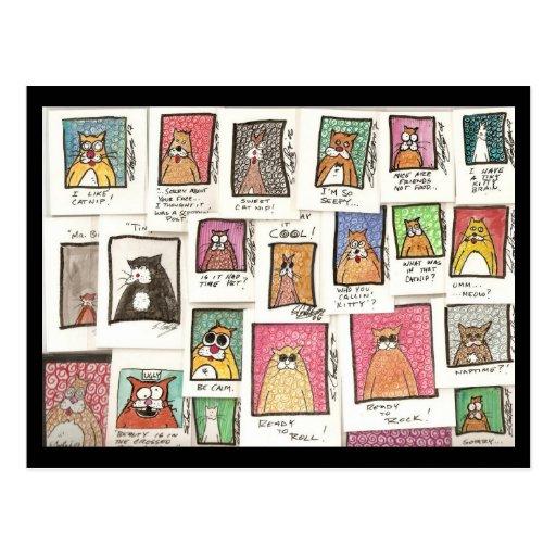 Conroy's Cat Cartoons Postcards