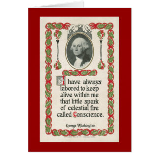 Conscience by George Washington Card