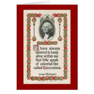 Conscience by George Washington Greeting Card