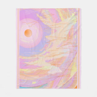 Consciousness abstract art fleece blanket