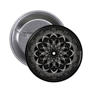 Consciousness - Sacred Geometry Mandala 6 Cm Round Badge