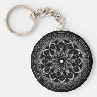 Consciousness - Sacred Geometry Mandala Basic Round Button Key Ring
