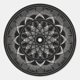 Consciousness - Sacred Geometry Mandala Classic Round Sticker